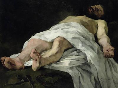 Christ Taken Down From The Cross Print by Heinrich Wilhelm Truebner