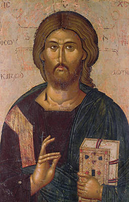 Orthodox Byzantine Icons Painting - Christ The Redeemer by Byzantine School
