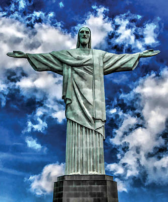 Christ The Redeemer Digital Art - Christ The Redeemer by Flo Karp