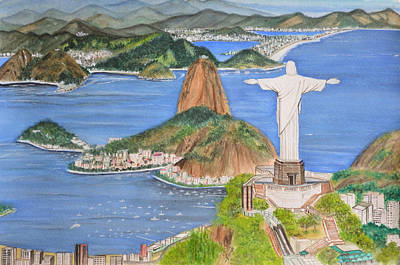 Wonders Of The World Painting - Christ The Redeemer by Swati Singh