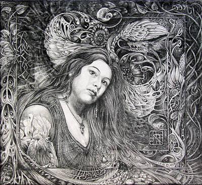 Christan Portrait Print by Otto Rapp