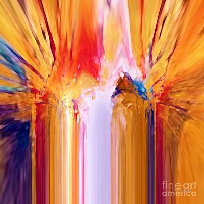 Angel Art Painting - Christian Art- Guardian Angel. Matthew 18 10 by Mark Lawrence