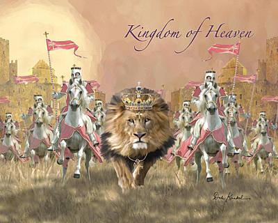 Lion Of Judah Painting - Kingdom Of Heaven by Dale Kunkel Art
