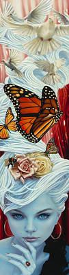 Ladybug Mixed Media - Christina The Astonishing by Vic Lee
