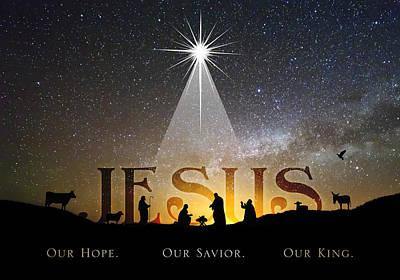 Manger Digital Art - Jesus Our Hope Savior And King by Kathryn McBride