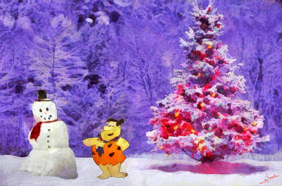 Animation Painting - Christmas And Fred by George Rossidis