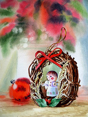 Christmas Angel Print by Irina Sztukowski