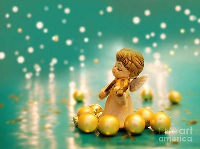 Christmas Angels 2 Print by Katerina Vodrazkova