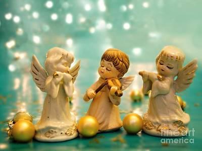 Christmas Angels 3 Print by Katerina Vodrazkova