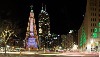 Indiana Photograph - Christmas At Monument Circle by Twenty Two North Photography
