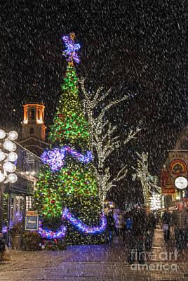 Christmas At Quincy Market Boston Print by Juli Scalzi