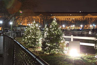 Christmas At The Ellipse - Washington Dc - 01131 Print by DC Photographer
