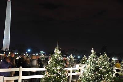 Christmas At The Ellipse - Washington Dc - 01135 Print by DC Photographer