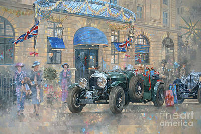 Bentley Painting - Christmas At The Ritz by Peter Miller