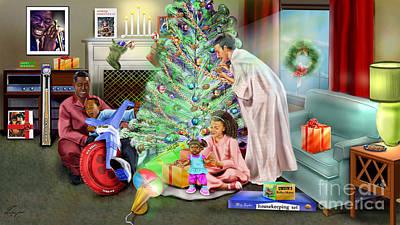 Christmas Back In Da Day Print by Reggie Duffie