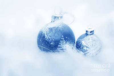 Sphere Photograph - Christmas Balls Decoration by Michal Bednarek