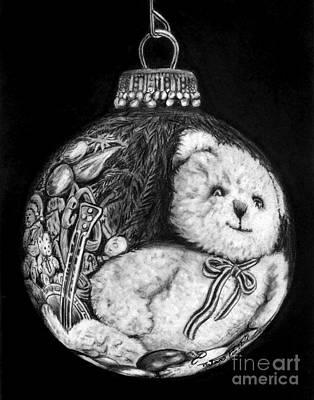 Christmas Bear Ornament   Original by Peter Piatt