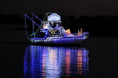 Decorated For Christmas Photograph - Christmas Boat by David Byron Keener