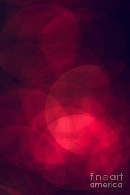 Abstract Photograph - Christmas Bokeh Background by Michal Bednarek