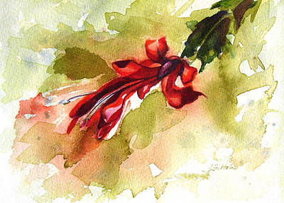 Painting - Christmas Cactus 2014 by Julianne Felton