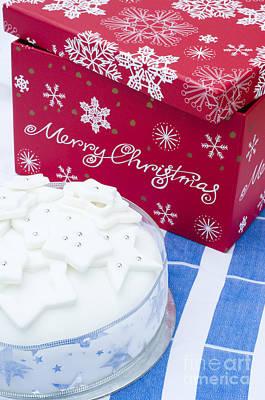 Christmas Cake Print by Anne Gilbert