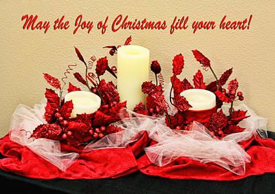 Christmas  Candels Print by Linda Phelps