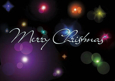 Christmas Mixed Media - Christmas Card Stars by Gina Dsgn