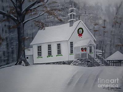 Christmas Card - Snow - Gates Chapel Original by Jan Dappen