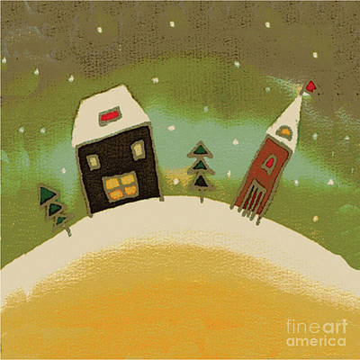 Christmas Card Print by Yana Vergasova