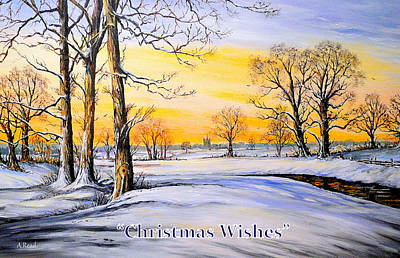Tall Tree Painting - Christmas Cards by Andrew Read