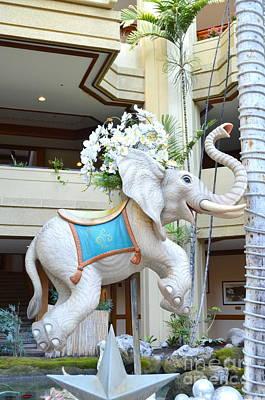 Photograph - Christmas Carousel Elephant by Mary Deal