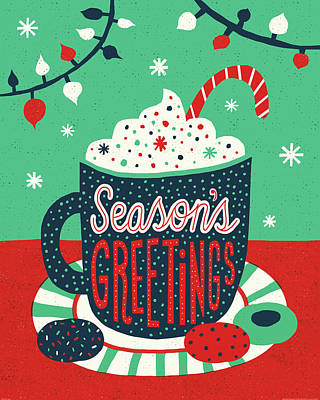 Christmas Cocoa Print by Michael Mullan