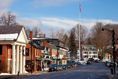 Christmas Day On Main Street, Concord Print by Brian Jannsen