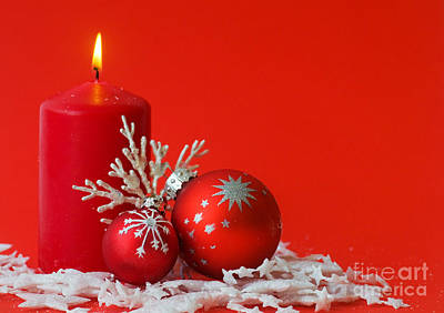 Candle Photograph - Christmas Decoration Background by Michal Bednarek