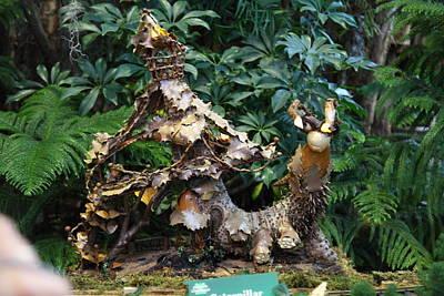 Christmas Display - Us Botanic Garden - 011330 Print by DC Photographer
