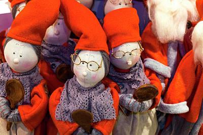 Doll Photograph - Christmas Dolls, Santa Claus Village by Peter Adams