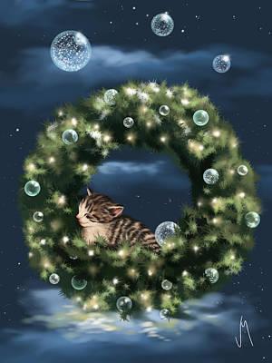 Digital Painting - Christmas Dream by Veronica Minozzi