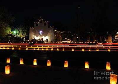 St. Francis De Paula Catholic Church Tularosa New Mexico Photograph - Christmas Eve At Tularosa by Vivian Christopher