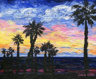 Frier Painting - Christmas Eve In Redondo Beach by Jamie Frier