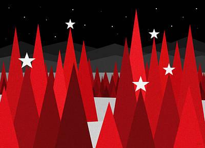 Snowy Night Digital Art - Christmas Eve by Val Arie