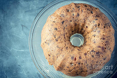 Platter Photograph - Christmas Fruitcake by Edward Fielding