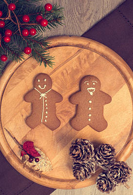 Christmas Gingerbread Print by Amanda And Christopher Elwell