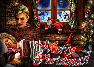 Cuckoo Digital Art - Christmas Greeting Card V by Alessandro Della Pietra