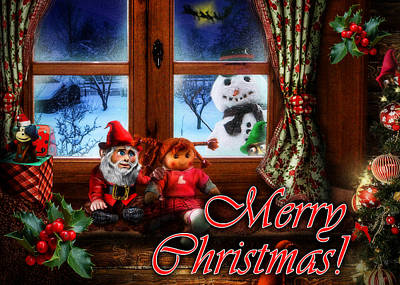 Cuckoo Digital Art - Christmas Greeting Card Vi by Alessandro Della Pietra