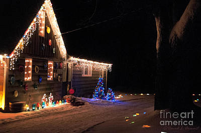 Decorated For Christmas Photograph - Christmas House by David Arment