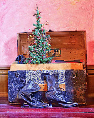 Black Boots Photograph - Christmas In A Trunk by Nikolyn McDonald