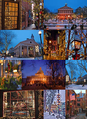 Christmas In Boston Print by Joann Vitali