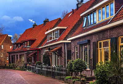 Red Roof Photograph - Christmas In Hoogvliet. Holland by Jenny Rainbow