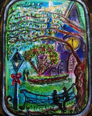 Catherdral Painting - Christmas In Jackson Square by Debora PeaceSwirl D'Angelo