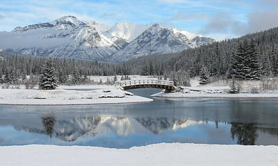 White River Scene Photograph - Christmas In The Rockies by Ramona Johnston